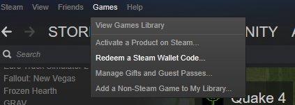 Sử dụng Steam Wallet