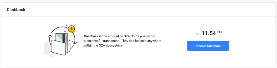 What is Cashback in the G2A Ecosystem and how does it work