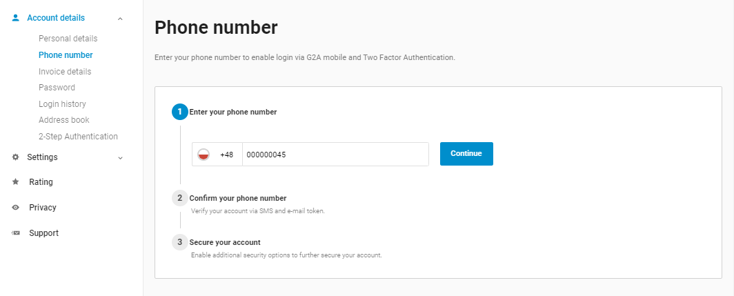 Do I have to add phone number to my account? Why should I